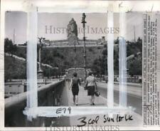 1962 Press Photo Statue of Josef Stalin on Letna Hill in Prague, Czechoslovakia