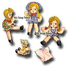 Vintage Pattern ~ Nina the Chubby-Cheek Cloth Stuffed Doll