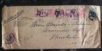 1914 Surabaya Netherlands Indies Cover Chas A Schieren & CoTanners Belt Manufact