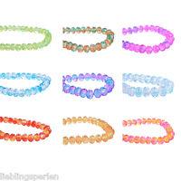 1Strang Glasperlen Schliffperlen Kugeln Perlen Beads Farbwahl 8x6mm M12580 L/P
