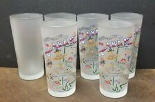 2004 CATSTUDIO ALABAMA LANDMARKS 16 OZ  FROSTED GLASS TUMBLER Set of 6