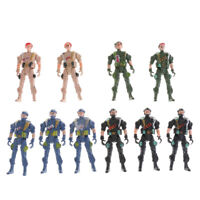 10pcs Military Playset Plastic Toy 9cm Soldier Army Men Figures Kids Toys