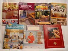 LOT OF 7 HOME IMPROVEMENT BOOKS Storage Woodworking Decor Backyard Patio Kitchen