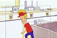 BEAVIS & BUTTHEAD Animation Art Original Production Cel Cell 90s Burger World