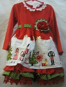 COUNTING DAISIES Nutcracker Christmas Dress 4 NWT D-11