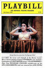 """Jerry Herman """"LA CAGE AUX FOLLES"""" George Hearn 1984 """"Playbill"""" National Magazine"""