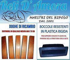 KIT 5 DOGHE DI RICAMBIO PER LETTO 79x6.8cm  + 10 BOCCOLE PER RETE A DOGHE LETTO