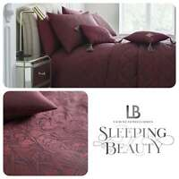 Laurence Llewelyn-Bowen FLORIAN Art Deco Claret Jacquard Woven Duvet Cover Set