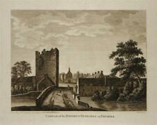KNIGHTS TEMPLARS CASTLE, THURLES, TIPPERARY, IRELAND 1793 Antique Engraved Print