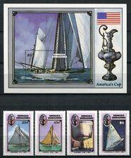 Grenada Grenadinen 1987 America`s Cup Schiffe Yachten Ships 867-70 + Block 132