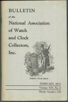 Bulletin National Association Watch Clock Collectors February 1971 German Alarms