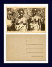 AFRIQUE OCCIDENTALE FRANÇAISE SÉNÉGAL DEUX JEUNES FILLES CÉRÈS CIRCA 1920