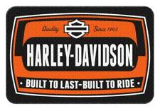 Harley-Davidson Bike Tag Low Pile Round Edge Rug, 20 x 30 Inches NW949201