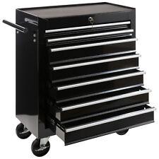 Servante Caisse à outils d'atelier 7 tiroirs tools chest chariot noir