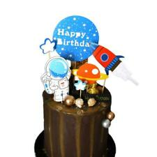 Space Astronaut Rocket Cake Topper cupcake toppers Space Cake Decoration