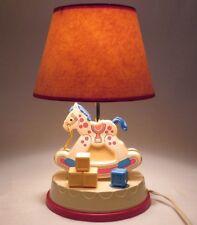 Vintage Fisher Price Rocking Horse Lamp Musical Lullabies Nursery Night Light