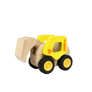 NEW Masterkidz Wooden Construction Excavator Toddler Kids Toys