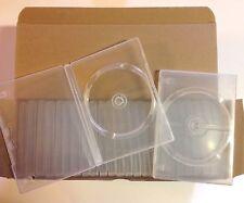 25 BOITIERS DVD VIERGE boitier Case TRANSPARENT