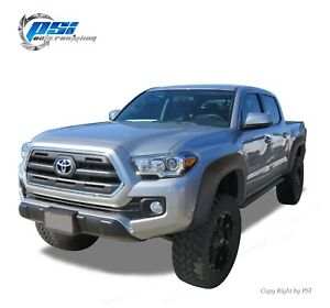 Sand Blast Textured Extension Style Fender Flares Fits Toyota Tacoma 2016-2019