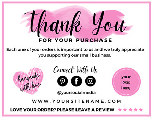 Thank You Card - Personalised (q)
