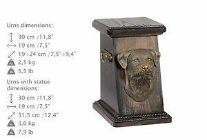 Border Terrier, Urne, Kalte Bronze, ArtDog, DE, Type 3