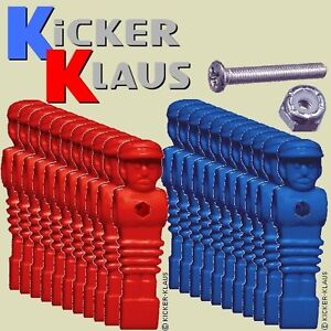Art. 1620: Set Kickerfiguren,Kickerpuppen,Soccerfiguren 11 x Rot, 11 x Blau