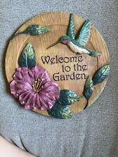 Welcome To The Garden Hummingbird Stepping Stone Plaque Yard & Garden