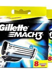 16 Gillette Mach 3 Ersatzklingen, Rasierklingen, Original und OVP