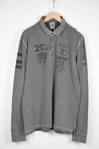 AERONAUTICA MILITARE Men's XXX LARGE Long Sleeve Logo Polo T-Shirt 37512_GS