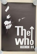 THE WHO, 'MAXIMUM R & B'',RARE LICENSED 2002 POSTER