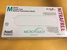 Ansell Microtouch NitraFree 6034512 Medium Pink Gloves PowdrFree 100s