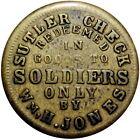 Soldiers Only Civil War Sutler Token Wm H Jones R8
