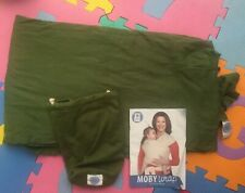 MOBY CLASSIC BABY WRAP OLIVE GREEN WITH INSTRUCTION BOOKLET VGC