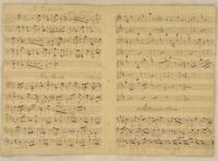 MUTTERSEELENALLEIN MUSIK Handschrift Orig Doppelblatt 1790  MAZURKA Polka tanzen