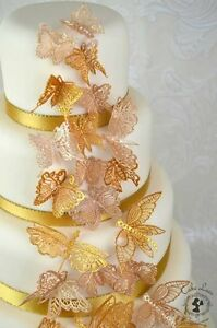 24 3D Edible Cake Lace Butterflies 2.   ALL COLOURS ONE LOW PRICE