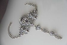 Silver Rhinestone Anklet, Hand Chain, Foot Chain, Accessory