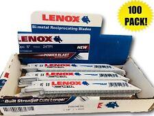 "(100 PACK) Lenox 624R 6"" x 24 TPI Bi-Metal Reciprocating Saw Blade"
