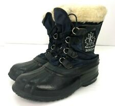 Sorel Skagway Mens Boots Size 8 Blue Black Lace Up Canada-Made