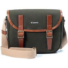 Canon PowerShot G9X G7X G5X G3X Canvas Camera Case Bag w/ Shoulder Strap /Green