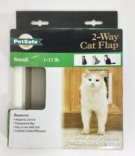 PetSafe 2-Way Locking Interior Cat/Dog Door Flap Small White 1-15 LBS (S)