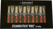 Berndorf Jumbo Steakbesteck BBQ 12 tlg Steakmesser Pizzabesteck Grillbesteck