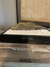 RMS Titanic Bow Wreck Model 1/550 Scale On Wood Base