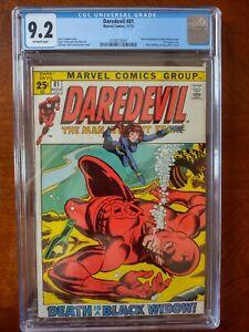 DAREDEVIL Vol 1 #81 1971 NM- CGC 9.2 Off-White BLACK WIDOW team up starts