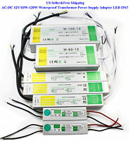 AC-DC 12V/10W-120W Waterproof Transformer Power Supply Adapter LED Driver IP67