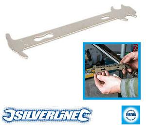 Silverline Bike Chain Wear Indicator Hand Tool Gauge Stretched Chain Checker