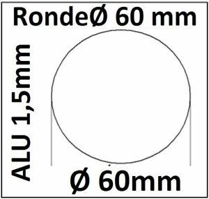 ALU Ronde Ø60x1,5mm 0Loch 1534 Alu Scheibe AR60/0/1,5 mm taurusShop24_de