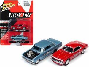 1:64 1965 Chevy Nova SS & 1967 Chevy Camaro -- Johnny Lightning Chevrolet