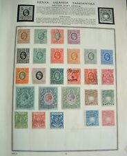 British East Africa Uganda good old mainly mint collection on album page- super