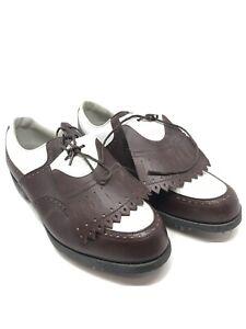 FootJoy DryJoys Leather Wingtip Tassel Golf Shoes Womens Sz 9.5 99133 Maroon