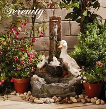Duck Pond Water Feature Cascade Self Contained Outdoor Garden Ornament Serenity